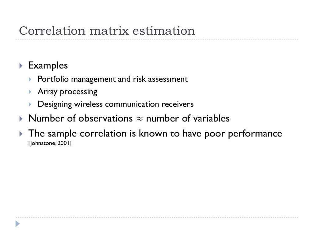Correlation matrix estimation  Examples  Port...