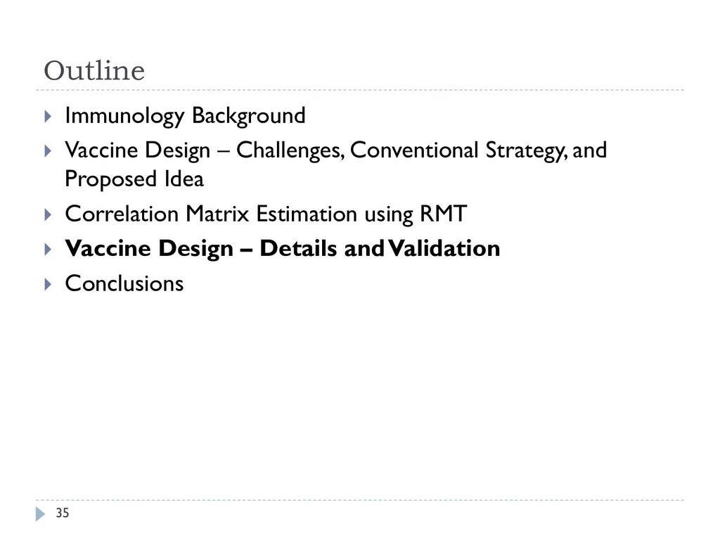 Outline 35  Immunology Background  Vaccine De...