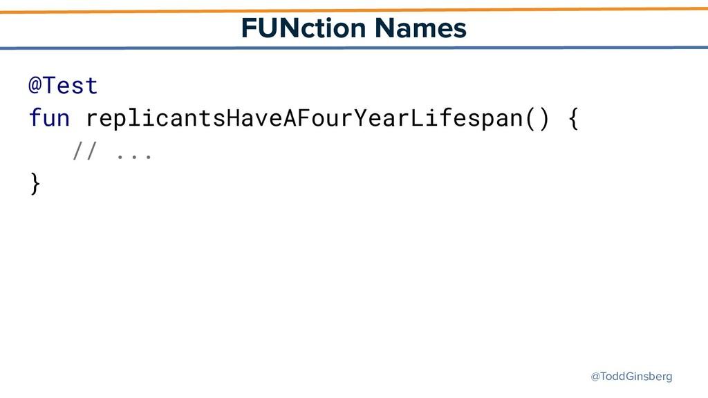 @ToddGinsberg FUNction Names @Test fun replican...