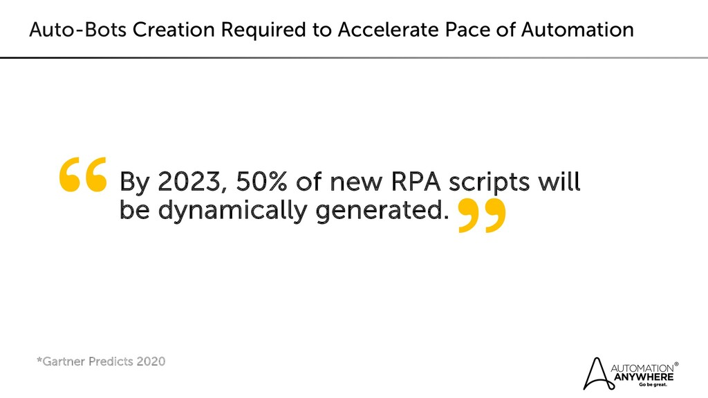Auto-Bots Creation Required to Accelerate Pace ...