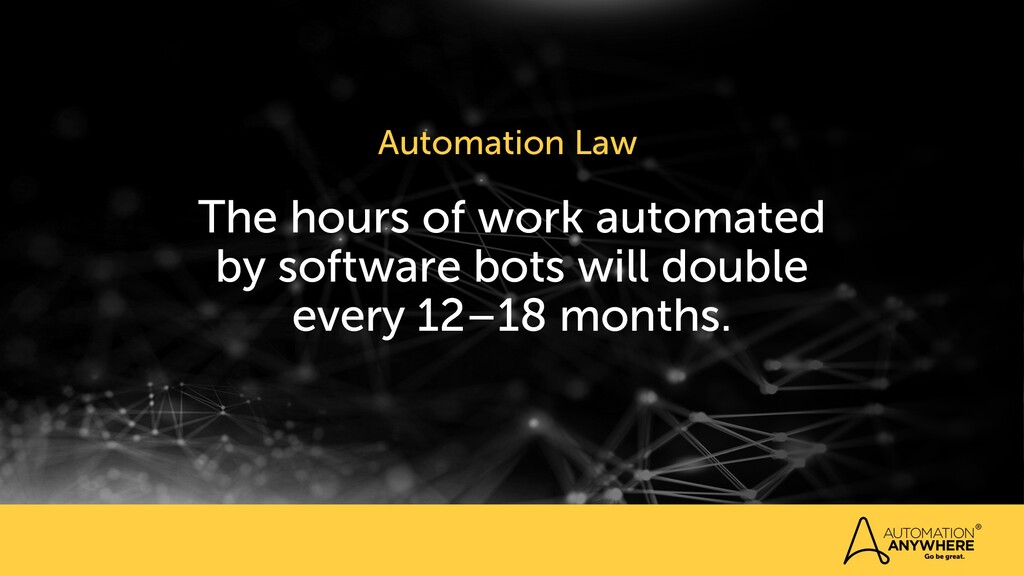 The hours of work automated by software bots wi...
