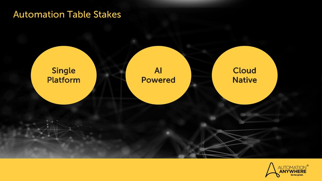 Automation Table Stakes Need Single Platform Cl...