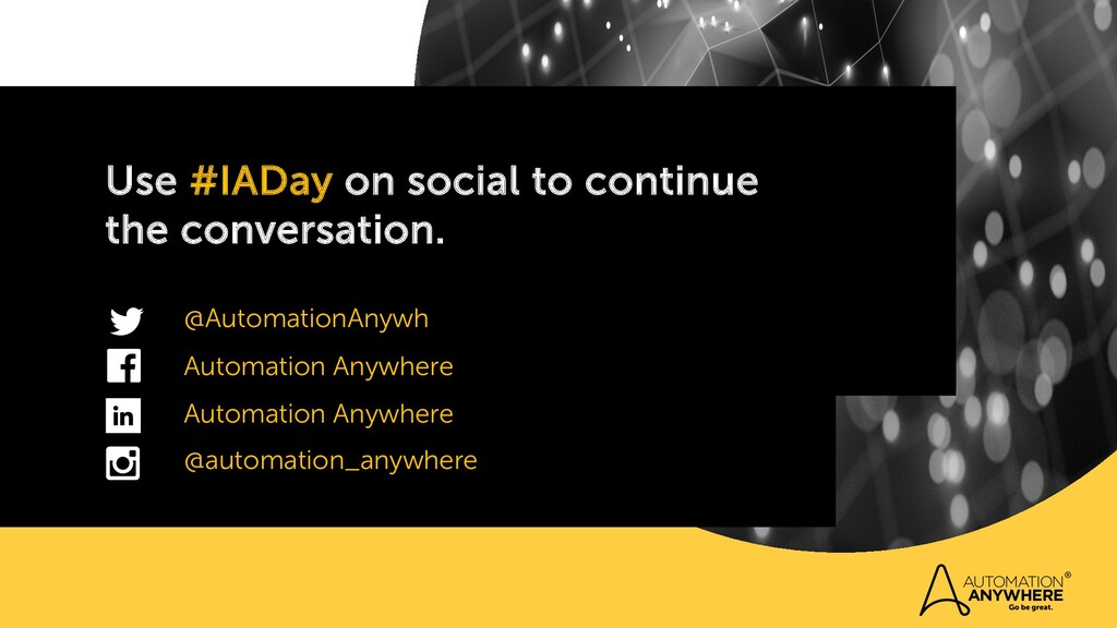 Use #IADay on social to continue the conversati...