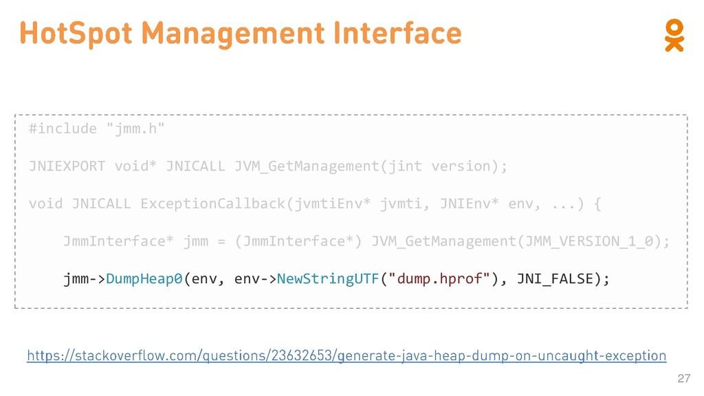 """27 #include """"jmm.h"""" JNIEXPORT void* JNICALL JVM..."""