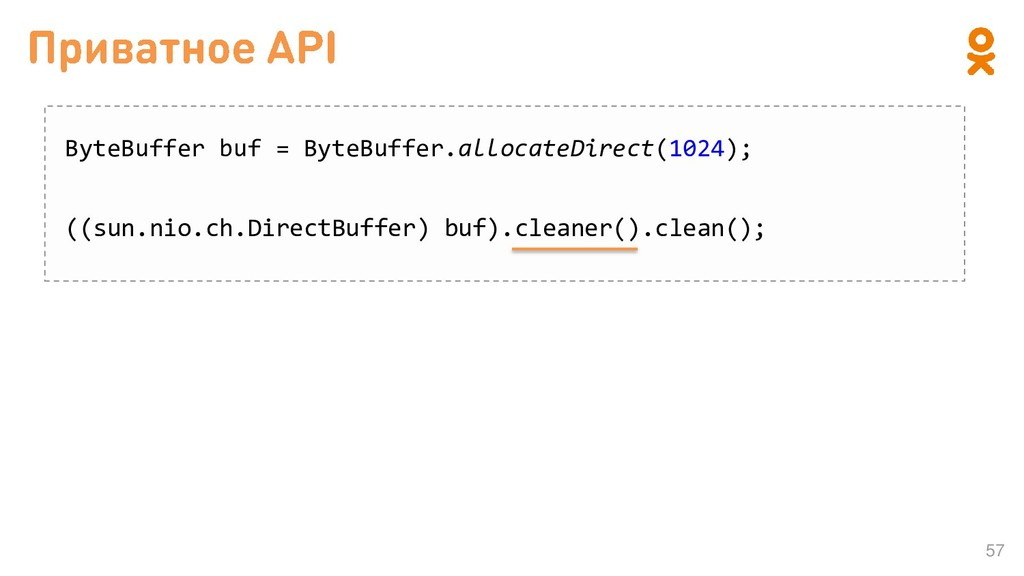 57 ByteBuffer buf = ByteBuffer.allocateDirect(1...