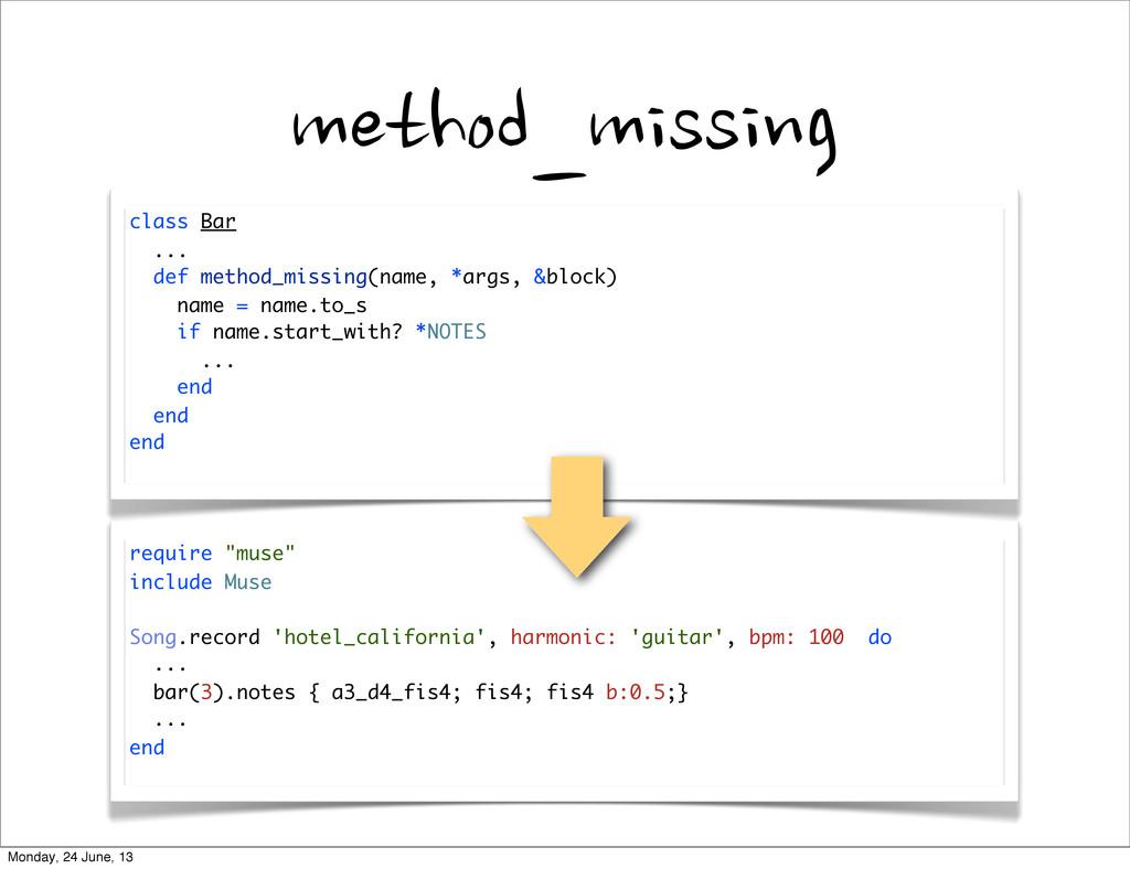method_missing class Bar ... def method_missing...