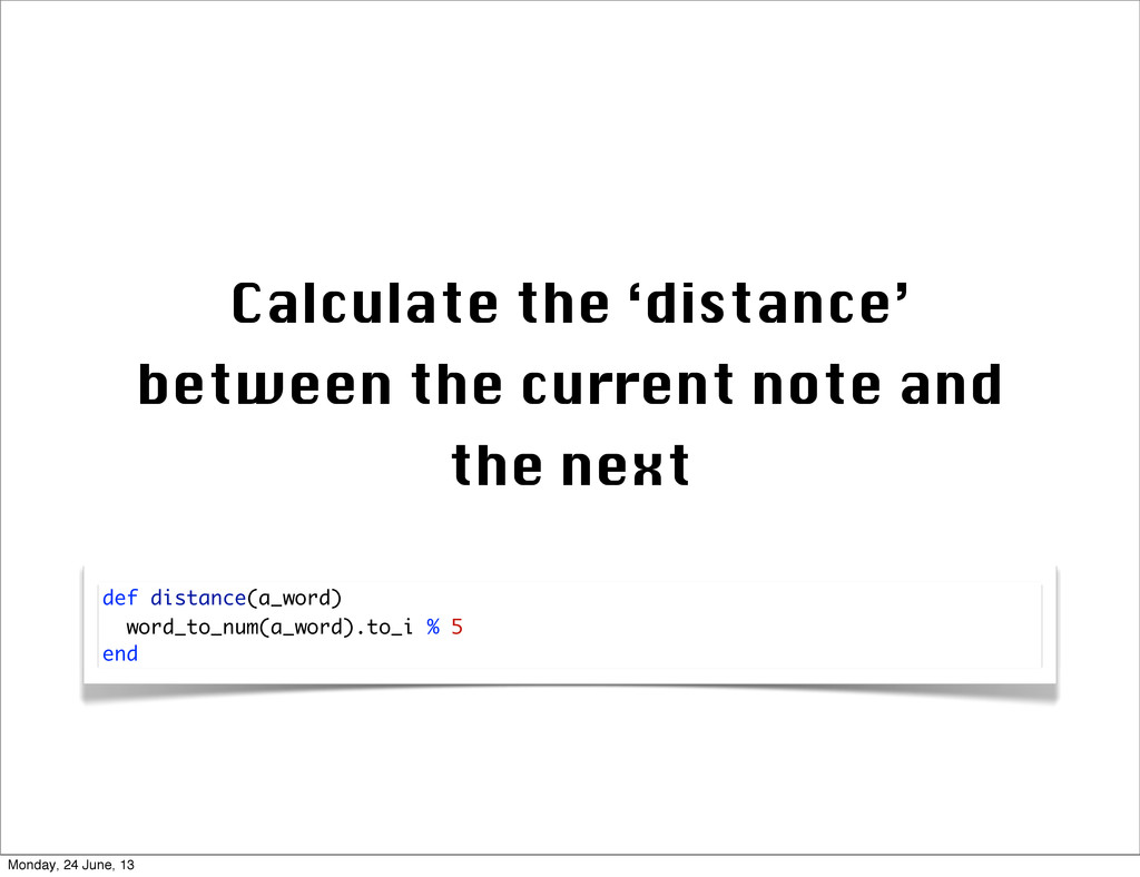 Calculate the 'distance' between the current no...
