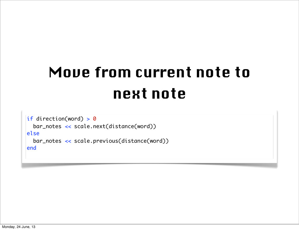 Move from current note to next note if directio...