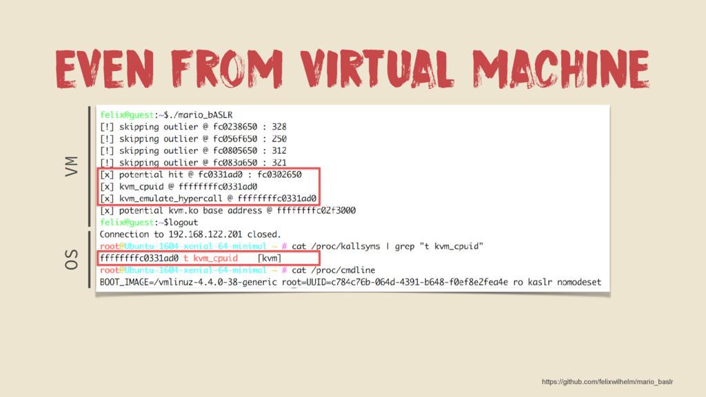 EVEN FROM VIRTUAL MACHINE VM OS https://github....