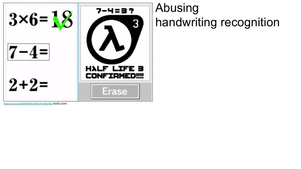 Abusing handwriting recognition https://youtu.b...