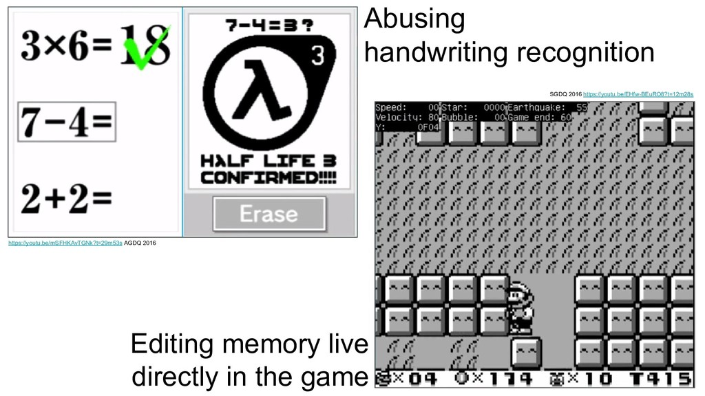Abusing handwriting recognition Editing memory ...