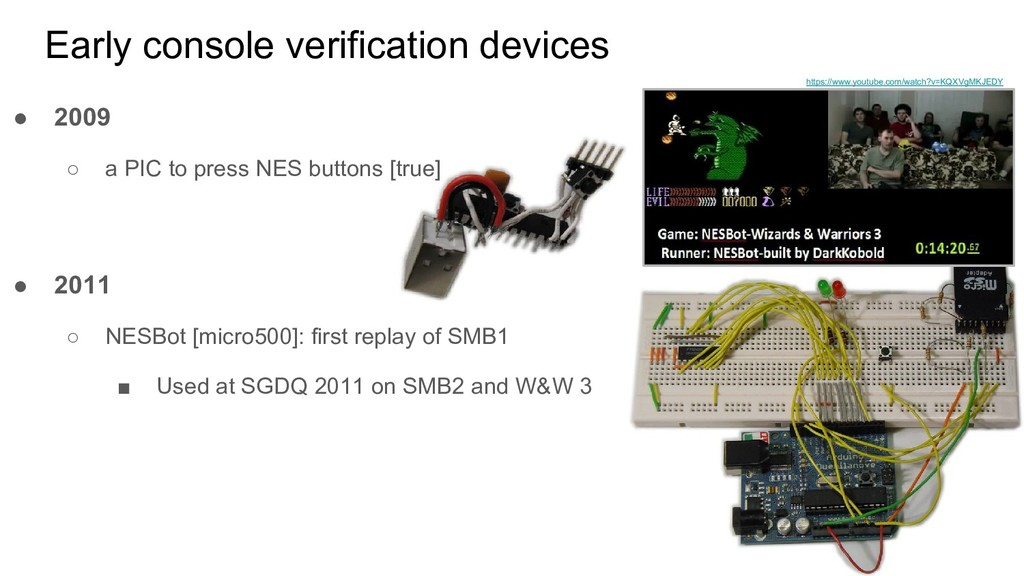 ● 2011 ○ NESBot [micro500]: first replay of SMB...