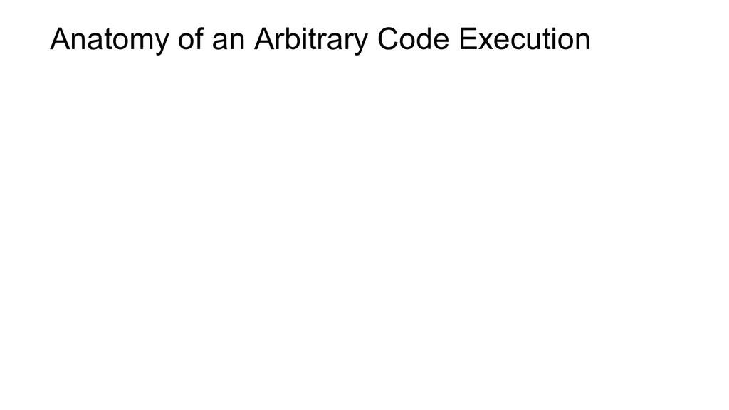 Anatomy of an Arbitrary Code Execution