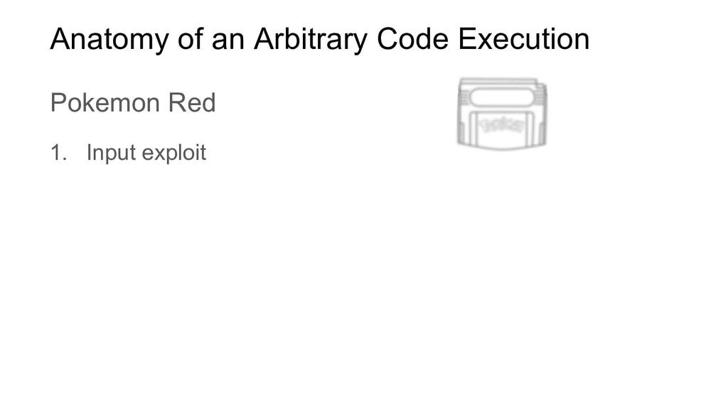 1. Input exploit Anatomy of an Arbitrary Code E...
