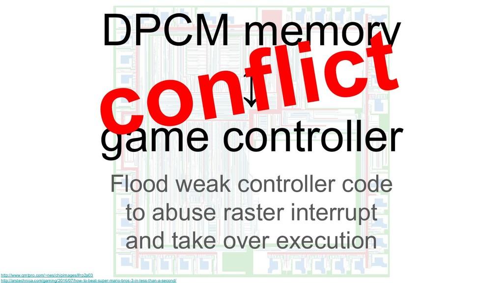 DPCM memory ↕ game controller Flood weak contro...