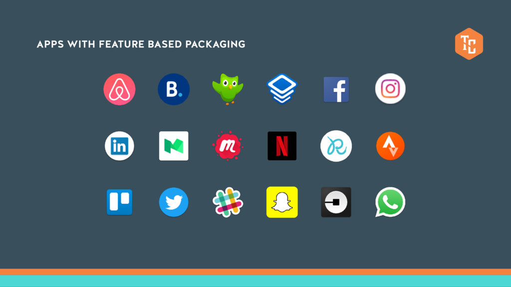 APPS WITH FEATURE BASED PACKAGING