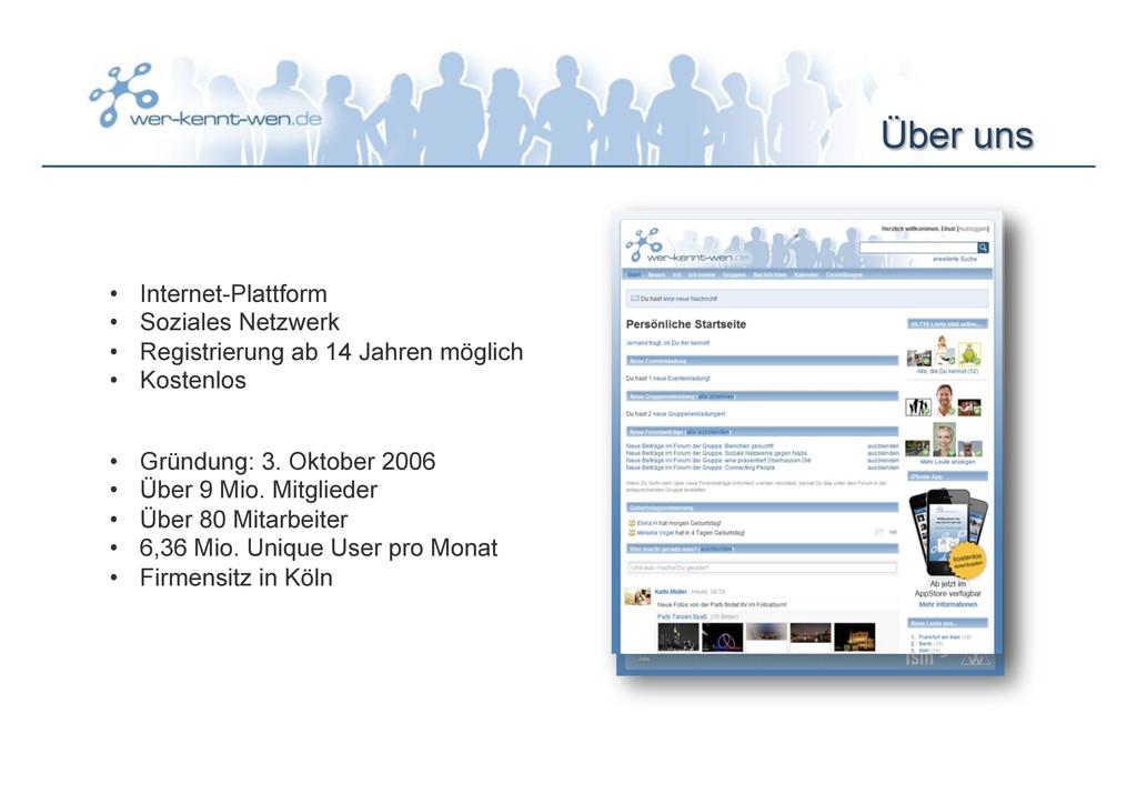 Über uns • Internet-Plattform • Soziales Netz...
