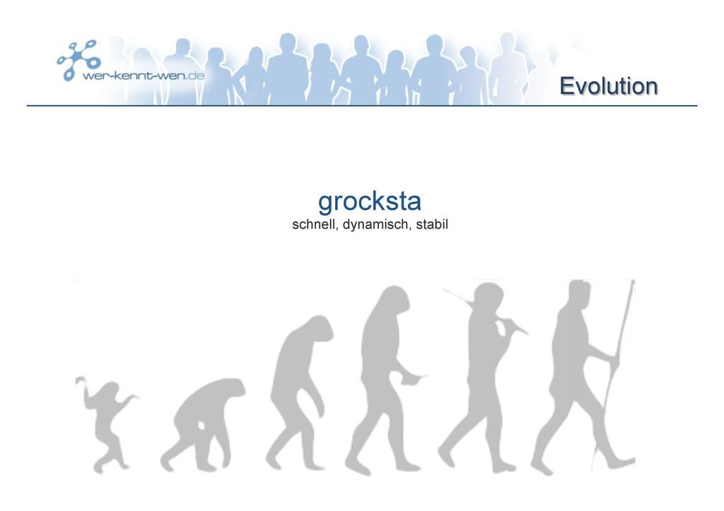 Evolution grocksta schnell, dynamisch, stabil