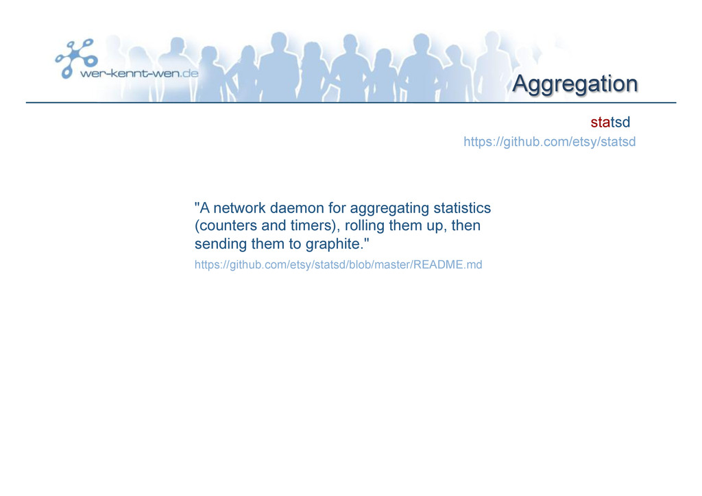 "Aggregation statsd ""A network daemon for aggreg..."