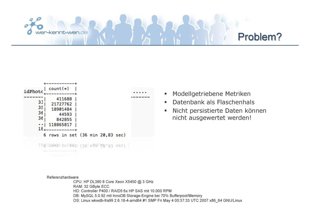 Problem? § Modellgetriebene Metriken § Date...