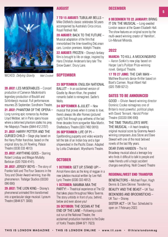 5 20 JULY: LES MISERABLES – Concert production ...