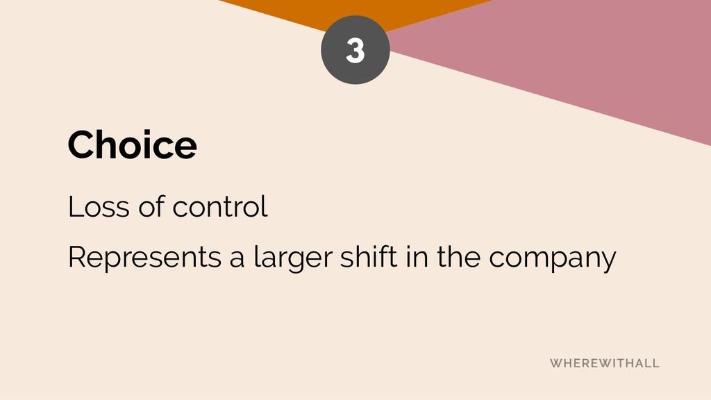 Choice Loss of control Represents a larger shif...