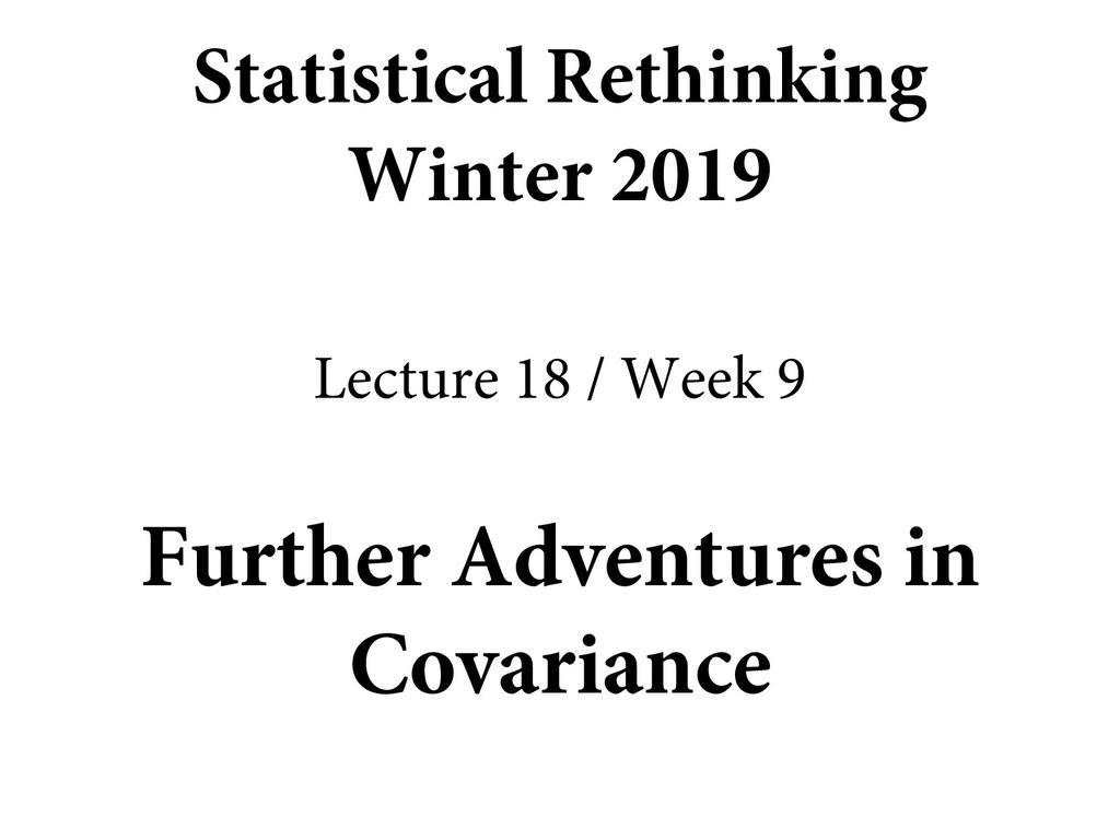 Further Adventures in Covariance Statistical Re...
