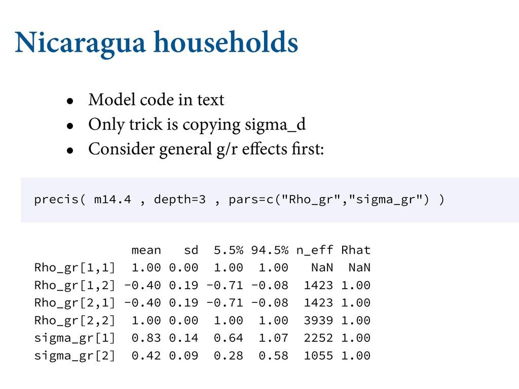 Nicaragua households • Model code in text • Onl...