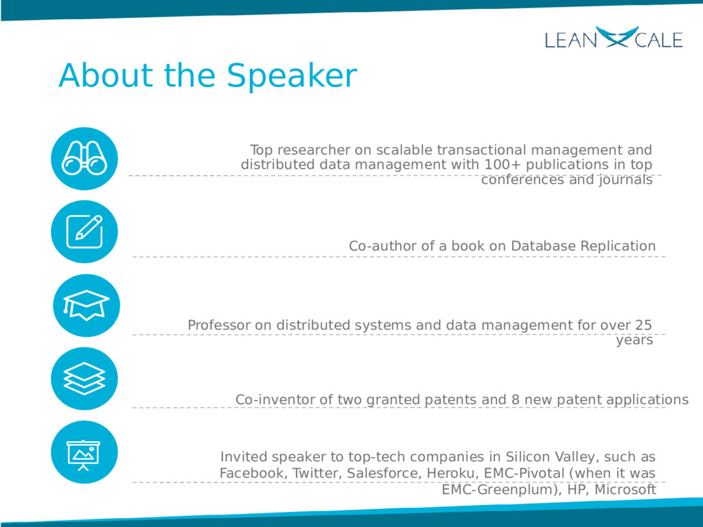 About the Speaker Top researcher on scalable tr...