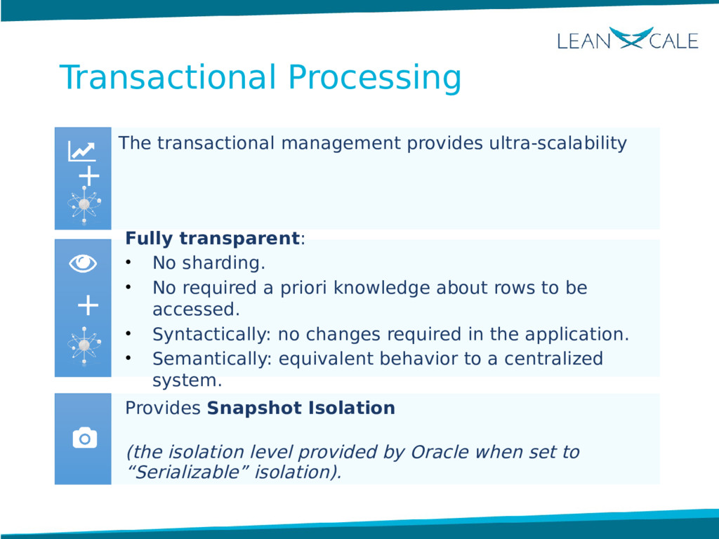 The transactional management provides ultra-sca...