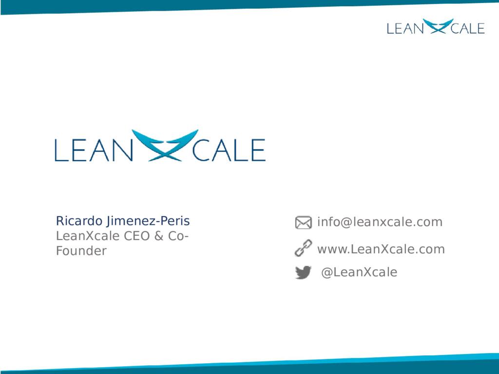 Ricardo Jimenez-Peris LeanXcale CEO & Co- Found...