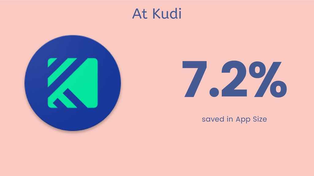 7.2% saved in App Size At Kudi