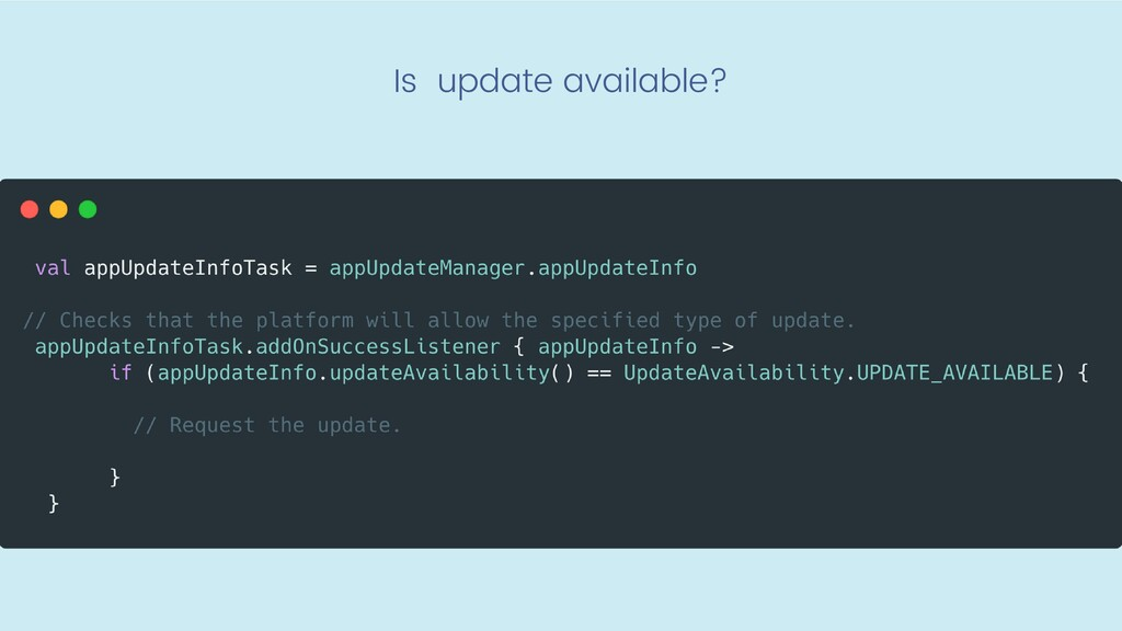Is update available?