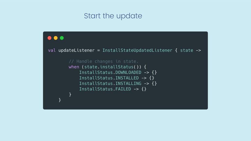 Start the update
