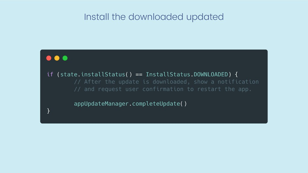 Install the downloaded updated