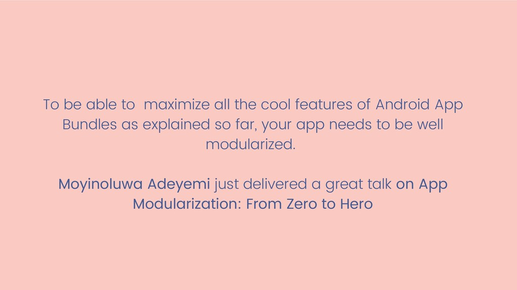 To be able to maximize all the cool features of...