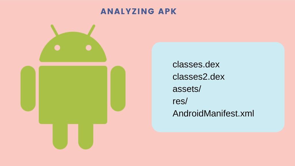ANALYZING APK classes.dex classes2.dex assets/ ...