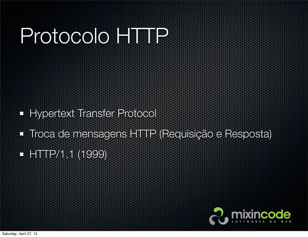 Protocolo HTTP Hypertext Transfer Protocol Troc...