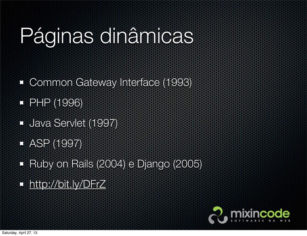 Páginas dinâmicas Common Gateway Interface (199...