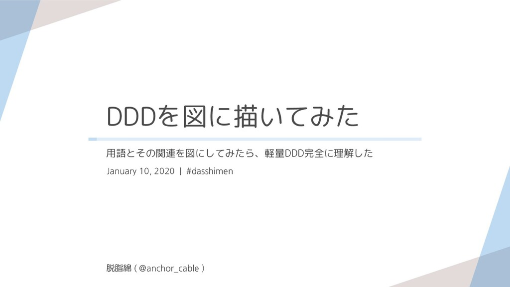 DDDを図に描いてみた January 10, 2020 | #dasshimen 用語とその...