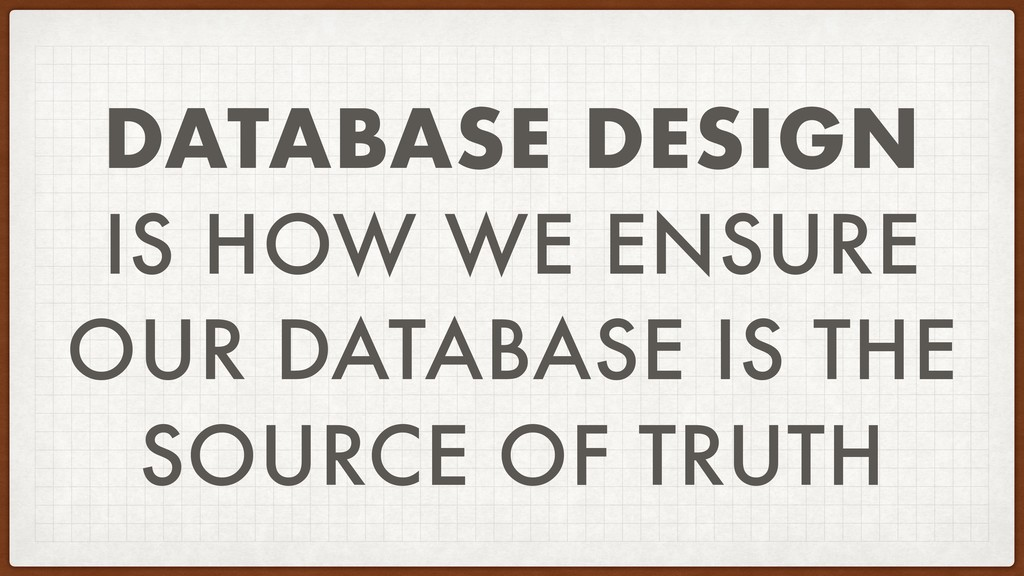 DATABASE DESIGN IS HOW WE ENSURE OUR DATABASE I...