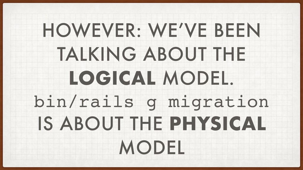 HOWEVER: WE'VE BEEN TALKING ABOUT THE LOGICAL M...