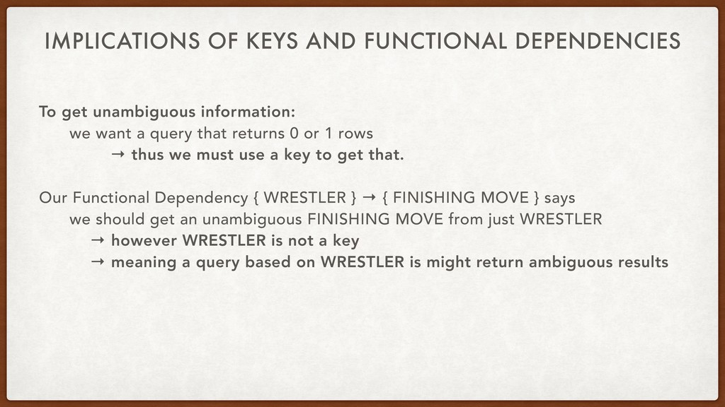 IMPLICATIONS OF KEYS AND FUNCTIONAL DEPENDENCIE...