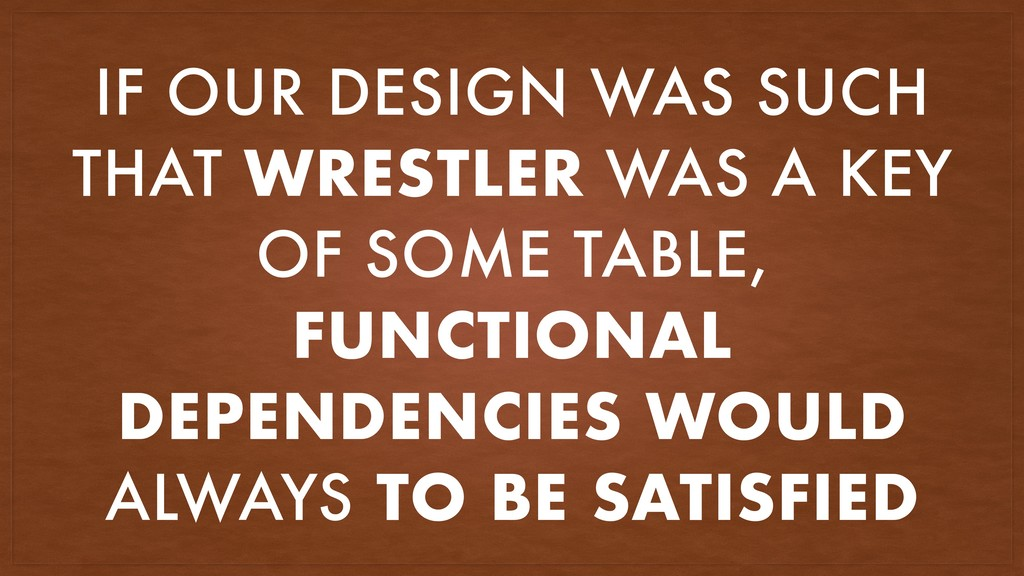 IF OUR DESIGN WAS SUCH THAT WRESTLER WAS A KEY ...