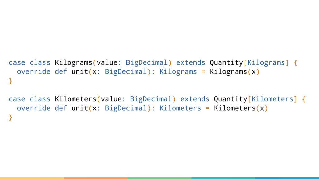 case class Kilograms(value: BigDecimal) extends...