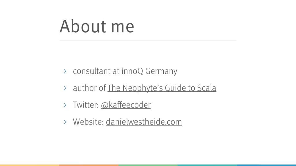 About me > consultant at innoQ Germany > author...