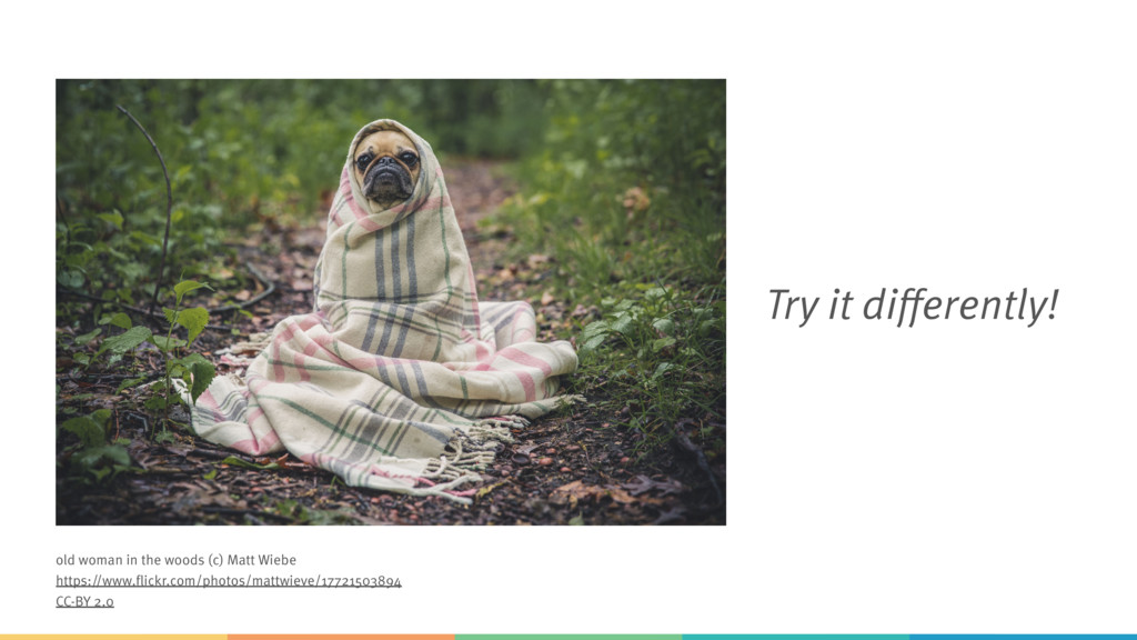 Try it differently! old woman in the woods (c) ...