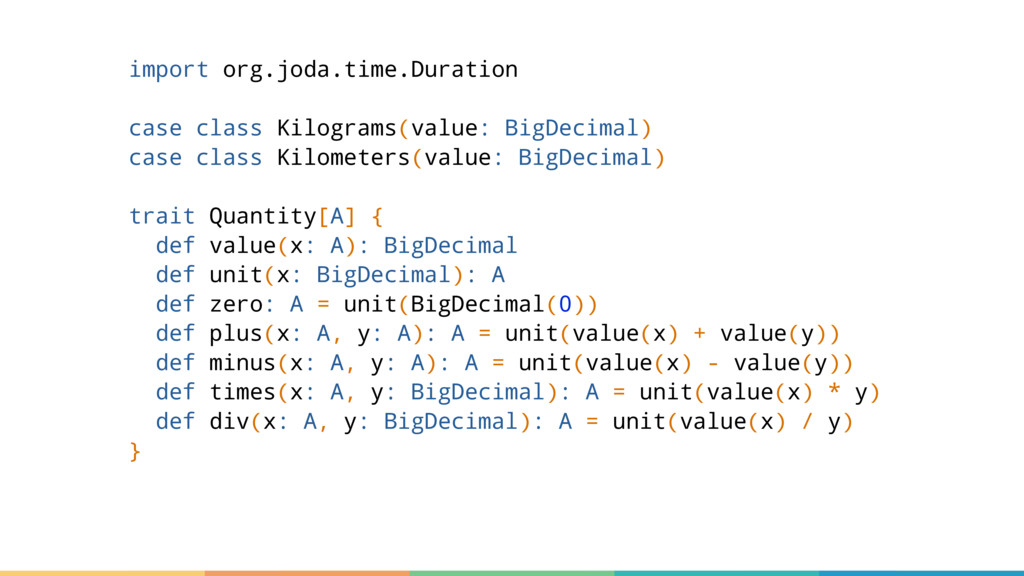 import org.joda.time.Duration case class Kilogr...