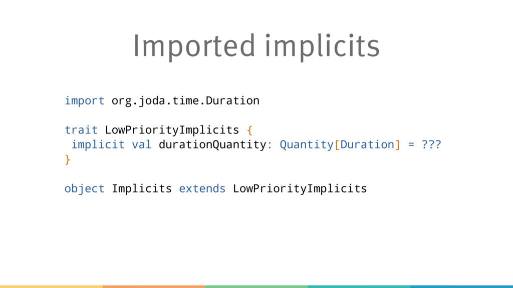 Imported implicits import org.joda.time.Duratio...