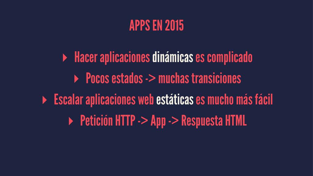 APPS EN 2015 ▸ Hacer aplicaciones dinámicas es ...